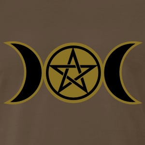 Pentacle /Pentagram - Wicca triple moon / Amulet T - Men's Premium T-Shirt