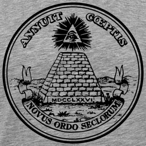 All seeing eye, pyramid, dollar, freemason, god Ho - Men's Premium T-Shirt