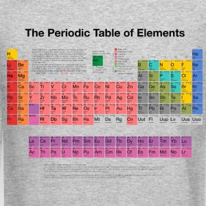 Periodic Table of Elements (PTE) dark Long Sleeve Shirts - Crewneck Sweatshirt
