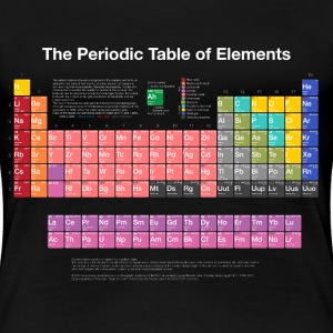 Periodic Table of Elements (PTE) light. Women's T-Shirts - Women's Premium T-Shirt