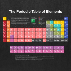 Periodic Table of Elements (PTE) light. Bags & backpacks - Tote Bag