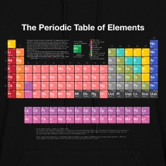 Periodic Table of Elements (PTE) light. Hoodies