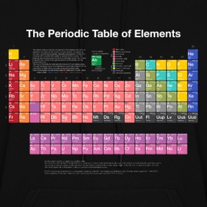 Periodic Table of Elements (PTE) light. Hoodies - Women's Hoodie
