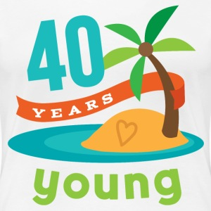 40th Birthday hawaiian Women's T-Shirts - Women's Premium T-Shirt