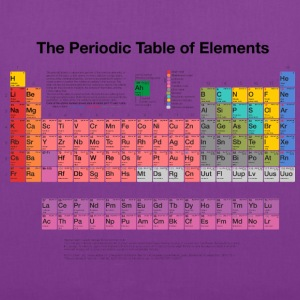 Periodic Table of Elements (PTE) dark Bags & backpacks - Tote Bag
