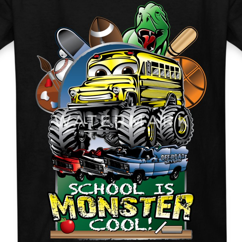 Monster School Bus Kids' Shirts - Kids' T-Shirt
