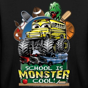 Monster School Bus Kids' Shirts - Kids' Long Sleeve T-Shirt