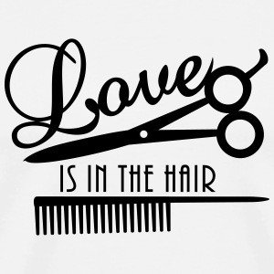 love is in the hair (d, 1c) T-Shirts - Men's Premium T-Shirt