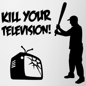 Kill Your Television - Against Media dumbing Bottles & Mugs - Contrast Coffee Mug