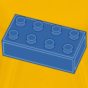 Blue Lego Block - Men's Premium T-Shirt