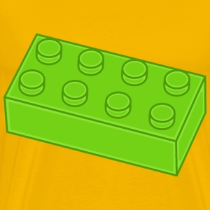 Green Lego Brick - Men's Premium T-Shirt