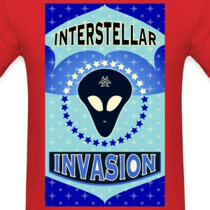 Interstellar Alien Invasion T-Shirts - Men's T-Shirt