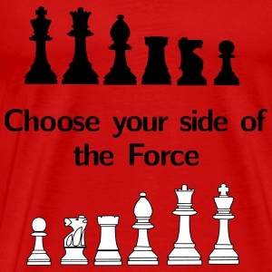 Choose your side of the Force, chess, pawns T-Shirts - Men's Premium T-Shirt
