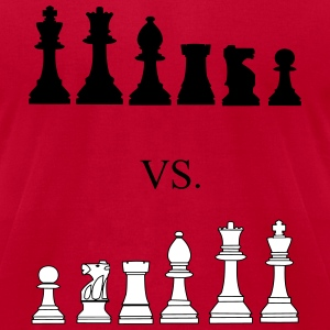 Black vs. White, chess, pawns, chessmen T-shirts - T-shirt pour hommes American Apparel