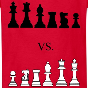 Black vs. White, chess, pawns, chessmen Kids' Shirts - Kids' T-Shirt