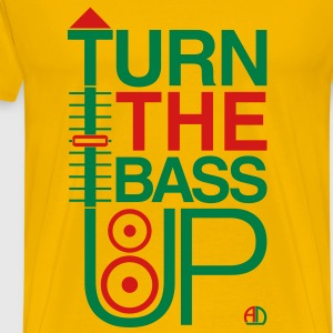 TURN THE BASS UP - Reggae colours - Crossfader DJ  - Men's Premium T-Shirt