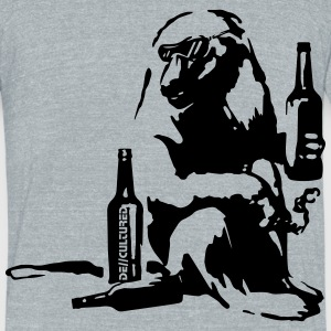 De//Cultured - Baboon Partier - Men's Tri-Blend - Unisex Tri-Blend T-Shirt by American Apparel