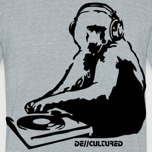 De//Cultured - Baboon DJ - Men's Tri-Blend - Unisex Tri-Blend T-Shirt by American Apparel