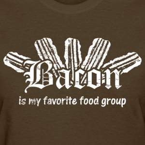 Bacon is My Favorite Food Group - White Print Women's T-Shirts - Women's T-Shirt