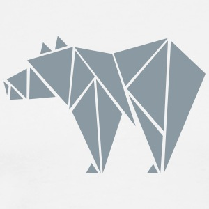 Low Poly Grizzly Bear T-Shirts - Men's Premium T-Shirt