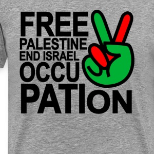 free_palestine_end_israeli_occupation_ts - Men's Premium T-Shirt