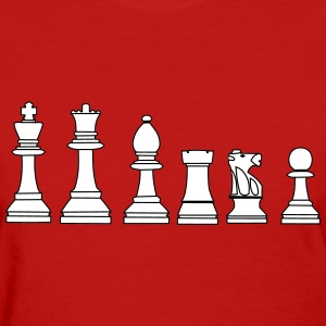 Pawns, chessmen, chess pieces Women's T-Shirts - Women's T-Shirt
