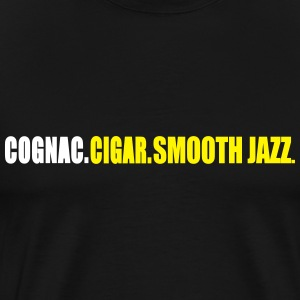 cognac_cigar_smooth_jazz T-Shirts - Men's Premium T-Shirt