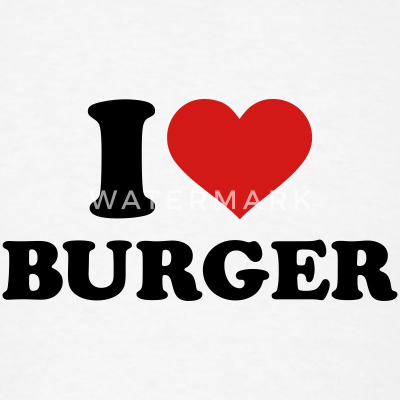 I love Burger T-Shirts - Men's T-Shirt