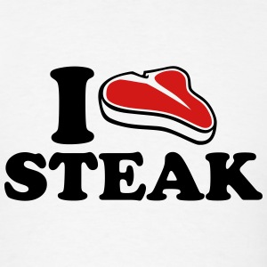 I love Steak T-Shirts - Men's T-Shirt