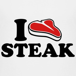 I love Steak Kids' Shirts - Kids' Premium T-Shirt