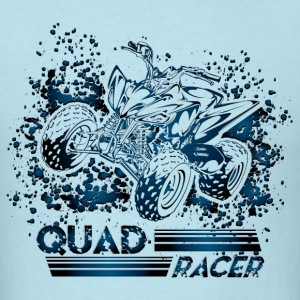 Blue Quad Racer Grunge T-Shirts - Men's T-Shirt