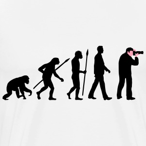 evolution_of_man_photographer_a_2c T-Shirts - Men's Premium T-Shirt