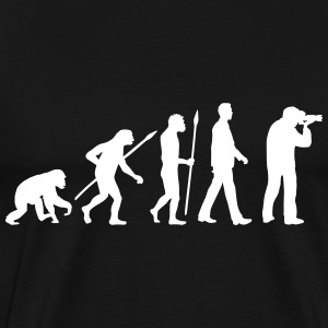 evolution_of_man_photographer_a_1c T-Shirts - Men's Premium T-Shirt