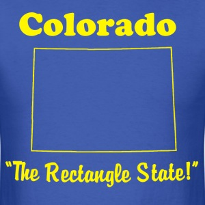 Men's Colorado, the rectangle state - Men's T-Shirt