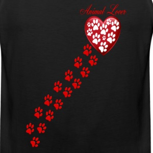 PAW  PRINTS ON MY HEART - Men's Premium Tank