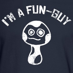 I'm a Fun-Guy Fungi Mushrooms Distressed White Long Sleeve Shirts