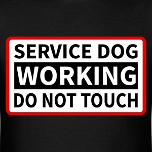 Service Dog Working T-Shirts - Men's T-Shirt