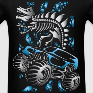 Monster Truck Skelton Blue T-Shirts - Men's T-Shirt