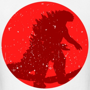 godzilla japan flag - Men's T-Shirt