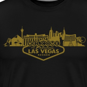 Las Vegas Skyline Golden Edition - Men's Premium T-Shirt