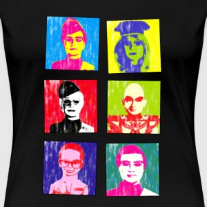 thunderbirds vs andy warhol - Women's Premium T-Shirt