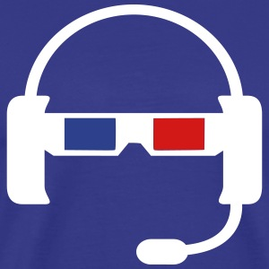 Headset plus 3D Glasses - Men's Premium T-Shirt