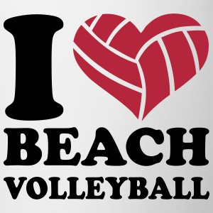 I love Beachvolleyball Bottles & Mugs - Contrast Coffee Mug