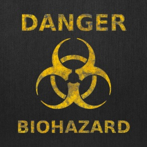 Distressed Biohazard Warning - Tote Bag