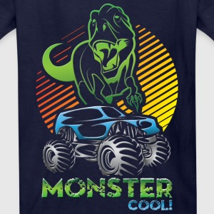 Monster Truck Dinosaur Kids' Shirts - Kids' T-Shirt