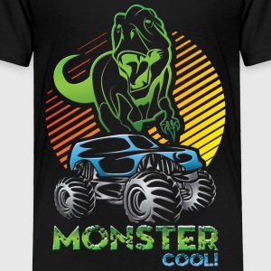 Monster Truck Dinosaur Baby & Toddler Shirts - Toddler Premium T-Shirt
