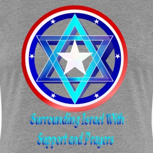 Support Israel-lettered - Women's Premium T-Shirt