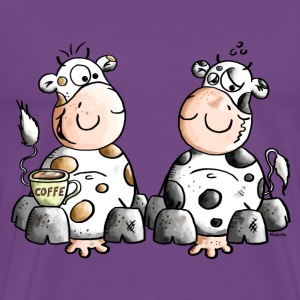 Cute Cows - Cow - Coffee T-Shirts - Men's Premium T-Shirt