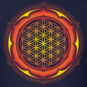 Flower of Life, Energy Symbol, Sacred Geometry T-Shirts - Men's T-Shirt