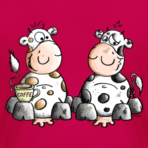 Cute Cows - Cow - Coffee Women's T-Shirts - Women's Premium T-Shirt